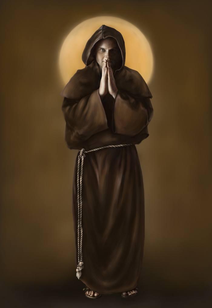картина монах