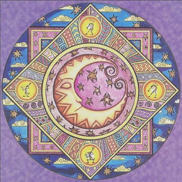 ведические символы на панно солнце-луна