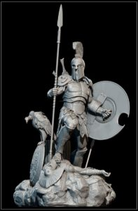 Римская скульптура бог Марс