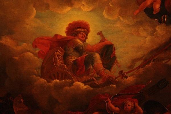 фреска с изображением Бога Марс