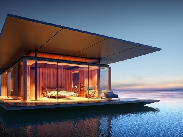 фотография плавучего дома