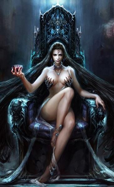 фэнтази картинка -женщина демон