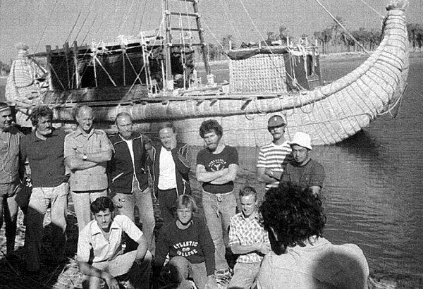 Юрий Сенкевич в составе экспедиции Тур Хеердала на Тибре