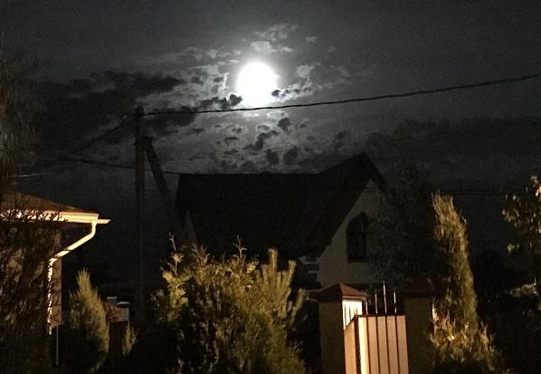 фотография полнолуния Луна в девятом доме