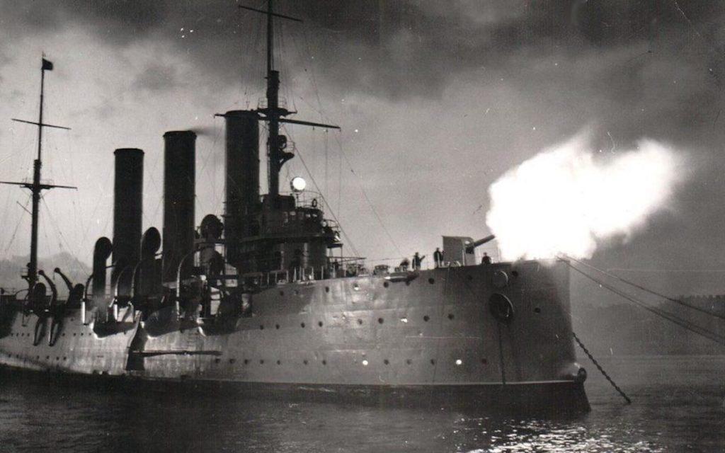выстрел крейсера Аврора