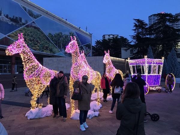 праздничное оформление города Сочи