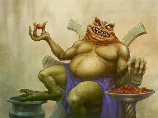 изображение демона богатства Маммона