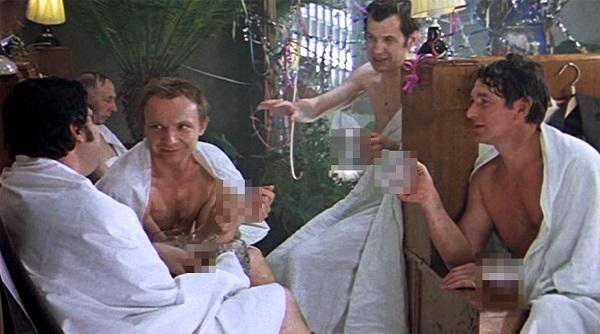 """сцена в бане из кинофильма """"Ирония судьбы или с легким паром"""""""