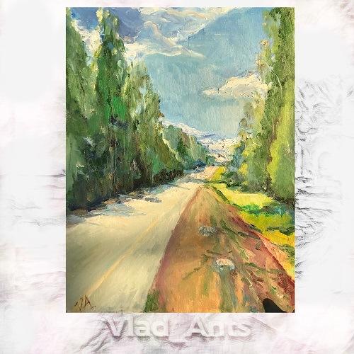 """""""Дорога в облака"""" картина современного художника Vlad_Ants"""
