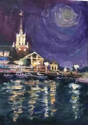 Мор.Порт Сочи вечером